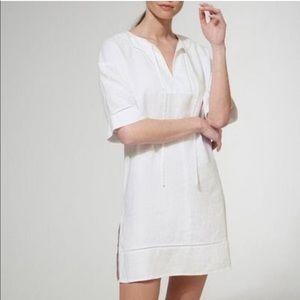 NWT LK Bennett White Linen Tunic Dress, Size Small